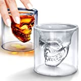 Godskitchen 75ml Double Layer Transparent Skull Pirate Shot Glass