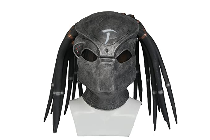 Predator Mask Costume Props Accessories for Adult Halloween Latex