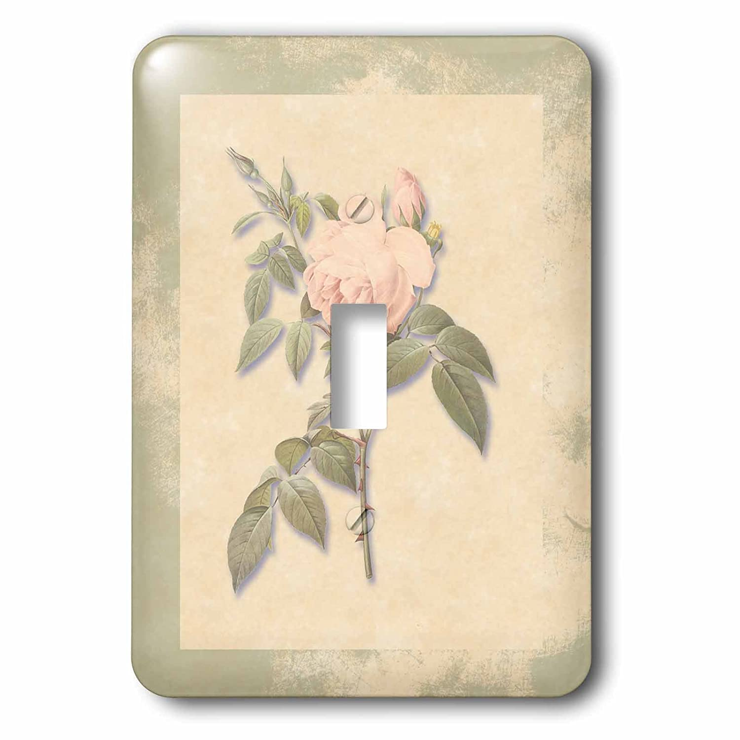 Light Pastel-Single Toggle Switch 3D Rose LSP/_186920/_1 Victorian Pink Antique Look Paper Background