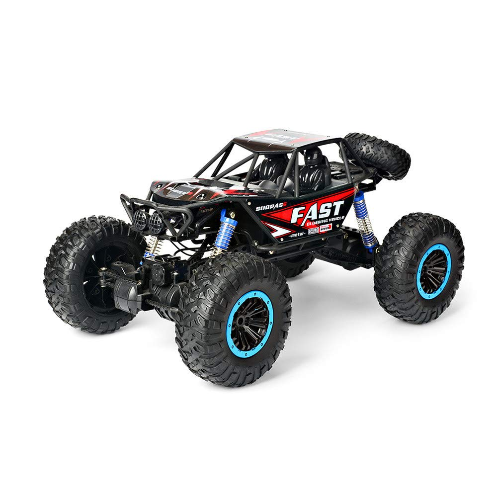 Choosebuy❤️ Radio 4D Off-Road RC Car Racing, 1:10 Scale 2.4GHz 30km/h High Speed Climbing Remote Control Vehicle Toys Kids Gift (Red)