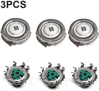 delibett 3 Piezas Cabezales De Afeitado para Philips RQ11 ...