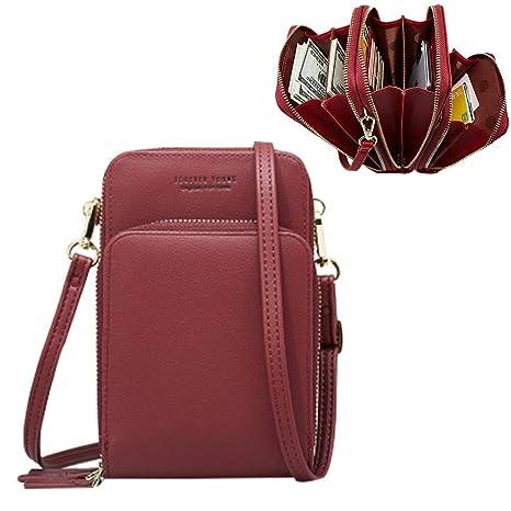 600d935d650 Women Wallets Clutch Crossbody Bag, Ladies Handbag, Aeeque PU Leather  Shoulder Bag Cell Phone