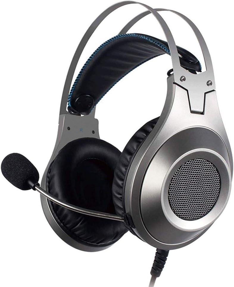 Yughb Auriculares con micrófono para Juegos estéreo con Cable para Xbox One PS4 Playstation 4 Cascos Gaming (Color : Silver): Amazon.es: Hogar