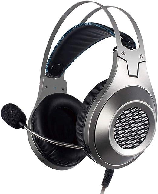 Yughb Auriculares con micrófono para Juegos estéreo con Cable para ...