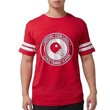 018ae668f9 Amazon.com: CafePress - Support Table Tennis Player T-Shirt - Mens Football  Shirt: Clothing