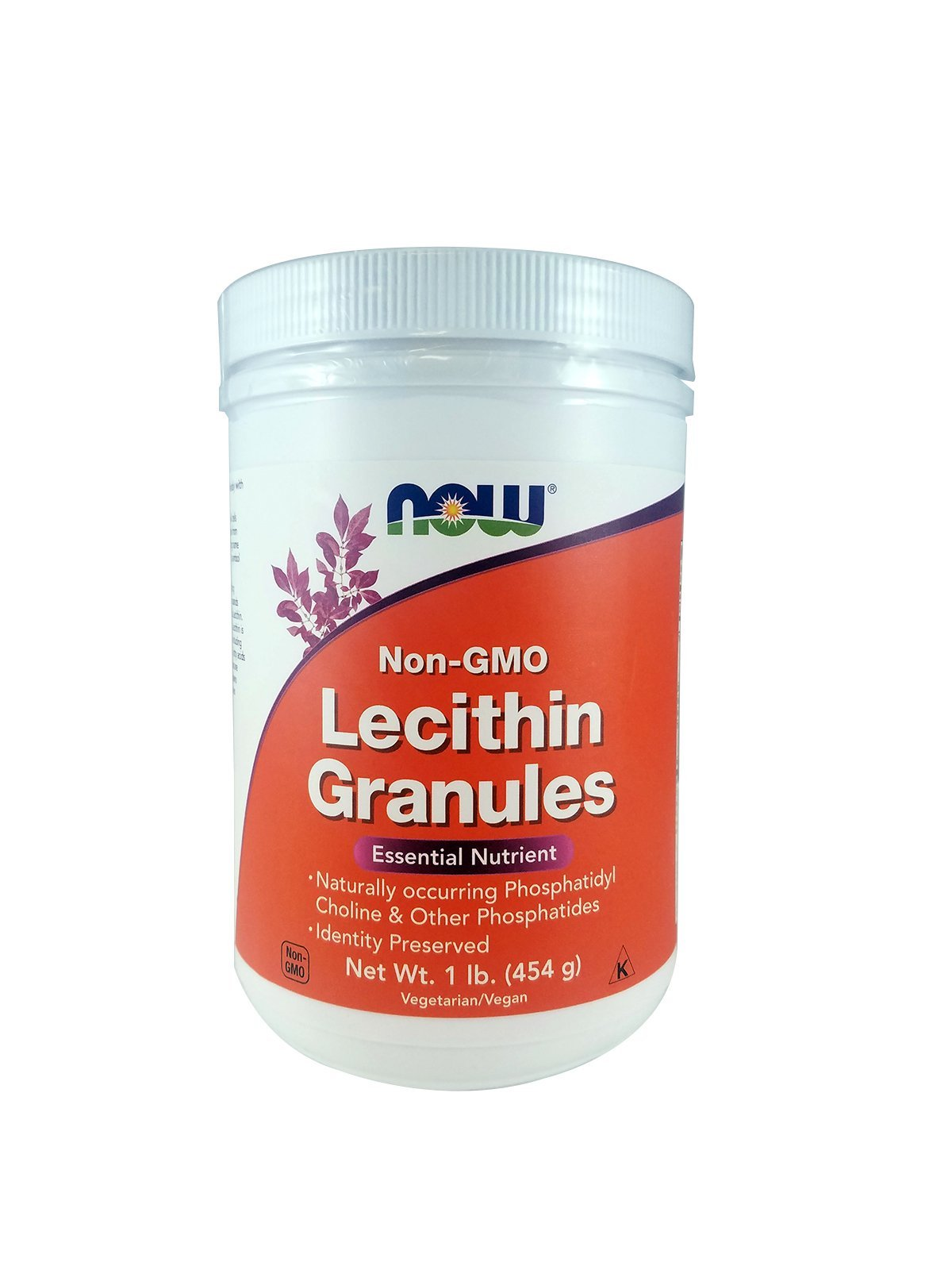 NOW Lecithin Granules, NGE, 1-Pound (Pack of 2)