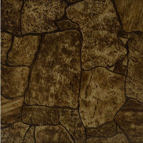 Home Dynamix KD006 Dynamix Vinyl Tile, 12 by 12-Inch, Brown, Box of 20 (Square Laminate Flooring)