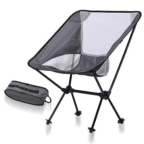 Ultraligero portátil Fácil de montar Sillas de camping ...