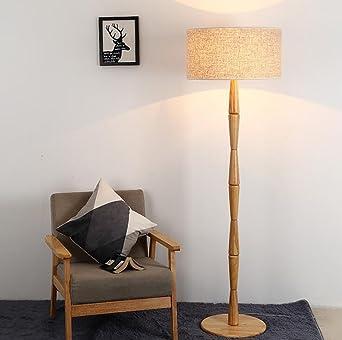 Chambre lampadaire Lampadaire moderne minimaliste en bois massif ...