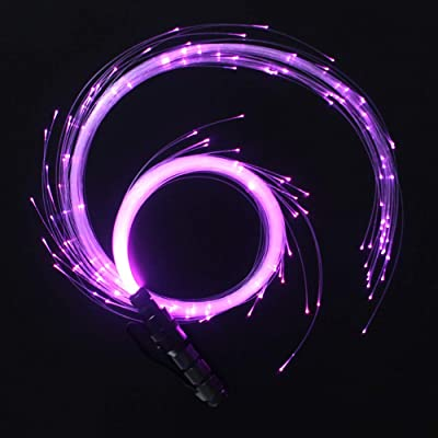 CHINLY LED Fiber Optic Whip Dance Space Whip Super Bright Light 40 Color Effect Mode 360° Swivel for Dancing, Parties, Light Shows, EDM Music Festivals: Toys & Games