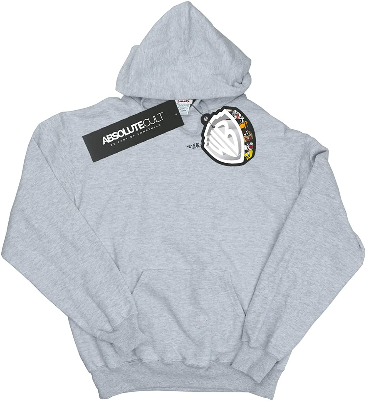 Looney Tunes Girls Whats Up Doc Breast Print Hoodie