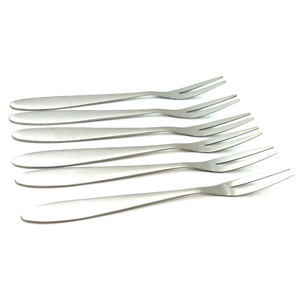 moon cake fork two teeth tableware fork (6 pcs) two teeth tableware fork /(6 pcs/) Sport Art SP-F06 Stainless steel fruit fork cake dessert fork