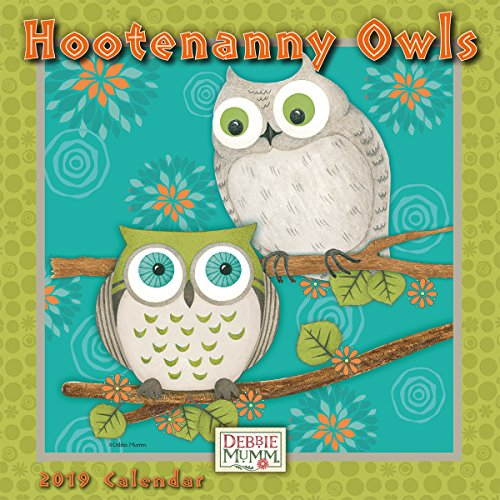 Calendars Debbie Mumm - Hootenanny Owls 2019 Mini Calendar