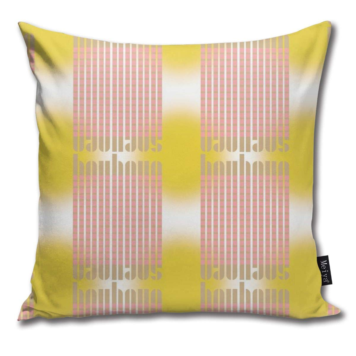 Amazon.com: Brecoy Bauhaus Stripe Glow Blushkhakisun Throw ...