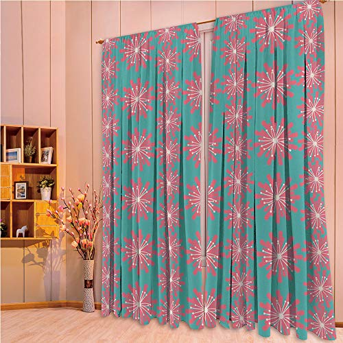 ZHICASSIESOPHIER Modern Style Room Darkening Blackout Window Treatment Curtain Valance for Kitchen/Living Room/Bedroom/Laundry,Wildflowers Twigs Sprouts Buds Lively Rustic 84Wx84L Inch
