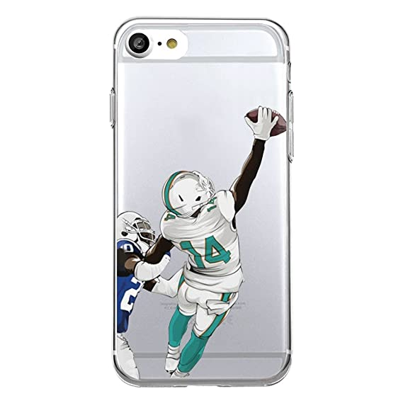 2776cdba50829 iPhone 7 / iPhone 8 Football Silicone Protective Transparent Thin Case (17)