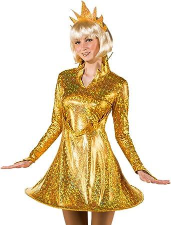 Das Kostümland Disfraz de Sol para Mujer – Oro – Carnaval Mundial ...