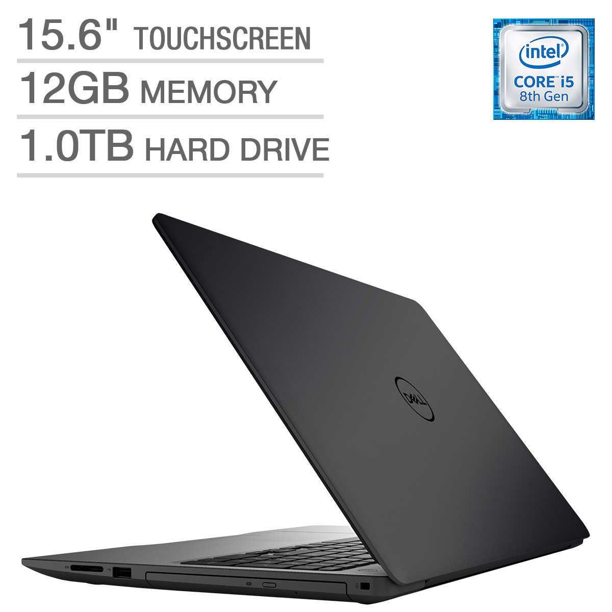 2018 Dell Inspiron 15 5000 Flagship Premium 15.6'' Full HD Touchscreen Backlit Keyboard Laptop, Intel Core i5-8250U Quad-Core, 12GB DDR4, 1TB HDD, DVD-RW, Bluetooth 4.2, Windows 10, Black