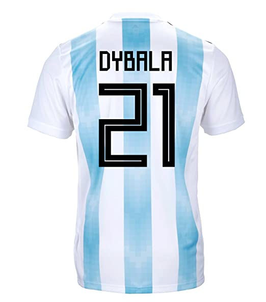 c6c85558d adidas Dybala  21 Argentina Official Youth Home Soccer Jersey World Cup  Russia 2018 (YXL