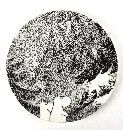 Moomin MO983D Small Plate The Meeting