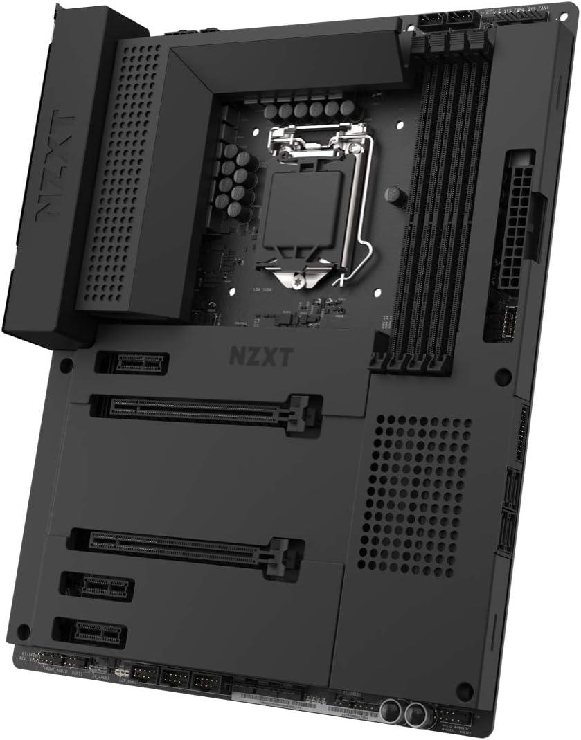 Nzxt N7 Z490 - N7-Z49XT-B1 - Intel Z490 chipset (Supports 8th/9th Gen CPUs) - ATX Gaming Motherboard - Integrated I/O Shield - Intel Wireless-AX 200 - Bluetooth V5.1 - Black