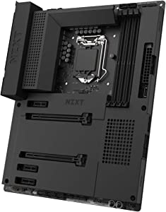 NZXT N7 Z490 - N7-Z49XT-B1 - Intel Z490 Chipset (Supports 10th Gen CPUs) - ATX Gaming Motherboard - Integrated I/O Shield - Intel Wireless-AX 200 - Bluetooth V5.1 - Black