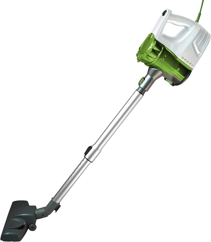 BEPER 50.450 - Aspirador Escoba ciclónica eléctrica 2 en 1 600 W, silencioso, 600 W, Color Blanco y Verde: Amazon.es: Hogar