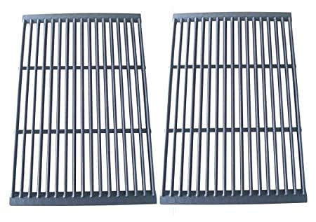 Hongso Pcf662 Porcelain Cast Iron Cooking Grate Replacement For Brinkmann, Charbroil, Charmglow And Other Grills, Set Of 2 by Hongso