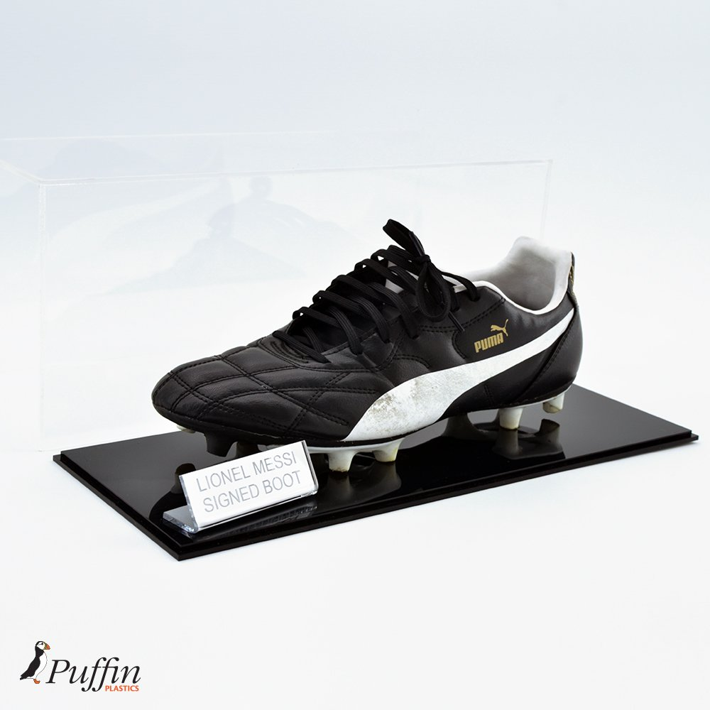 Football Boot Display Case - Single Puffin Plastics LTD