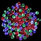 PMS® 100 LEDs 17M Luce Della Stringa Solare Multicolore Impermeabile Decorazioni Natalizie, Striscia LED ad energia solare.