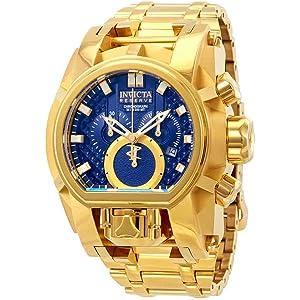 Invicta Reserve Mens 52mm Bolt Zeus Magnum Swiss Quartz Dual Movement Bracelet Watch (25209)