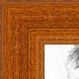 ArtToFrames 8x32 inch Honey Stain on Hard Maple Wood Picture Frame, 2WOM0066-60823-YHNY-8x32