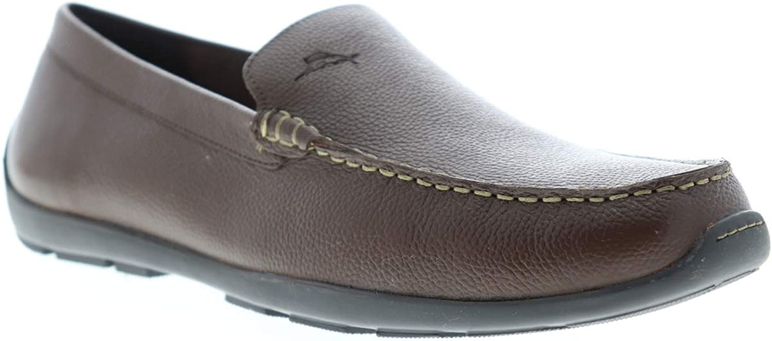 Tommy Bahama Amalfi TB7S00145 Mens Tan Brown Leather Moccasin Loafers Shoes 15
