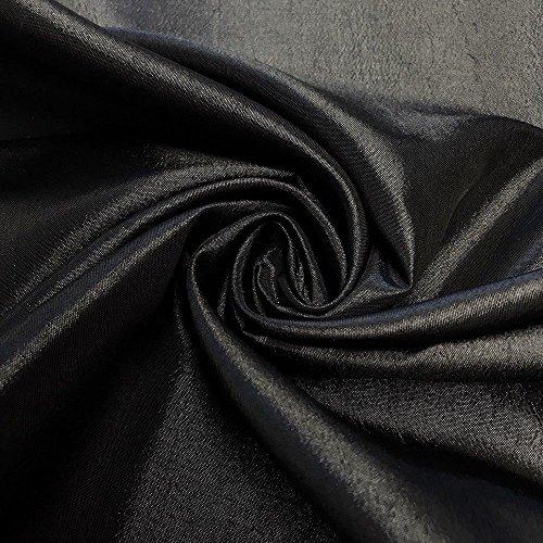 Pappermint Store Black Extra Wide Nylon Taffeta Fabric 110