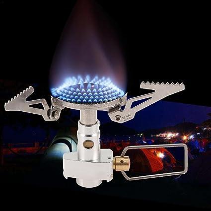 Quemador de estufa de cocina, portátil, mini utensilios de camping para picnic o cocina