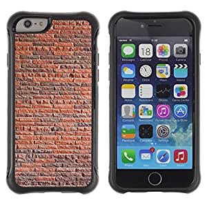 Paccase / Suave TPU GEL Caso Carcasa de Protección Funda para - Wall Brick Rustic Orange Brown Architecture - Apple Iphone 6