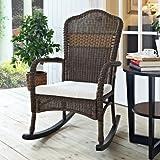 Wicker Rocking Chair Rocker Patio Lawn Garden Outdoor Porch Livingroom Furniture