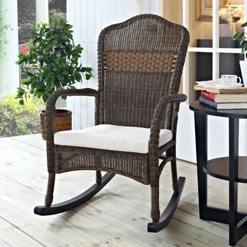 Wicker Rocking Chair Rocker Patio Lawn Garden Outdoor Porch Livingroom (Wicker Rocking Chair)
