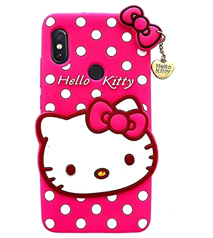 best service dd585 0b1f8 ORC Redmi 6 Pro Soft Silicone Cat Printed Hello Kitty Back Cover for Redmi  6 Pro (Pink)