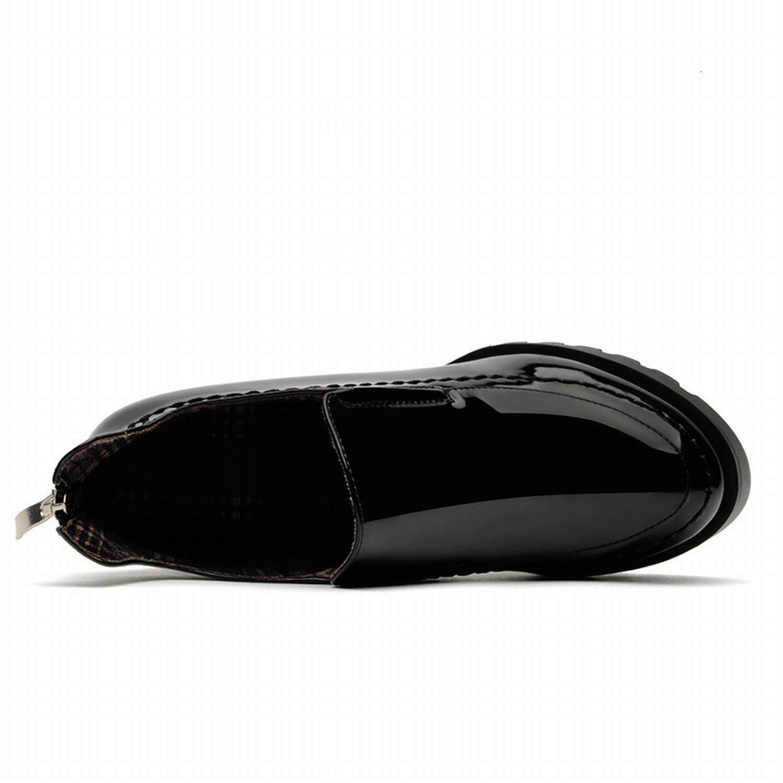 Fuxitoggo Mit Einem einzigen Schuh die Schuhe Heels Schuhe Schuhe Schuhe britischen dicken (Farbe   Schwarz Größe   36) 3f54e5