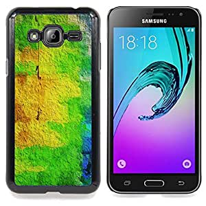 Stuss Case / Funda Carcasa protectora - Amarillo pintura abstracta colorida - Samsung Galaxy J3 GSM-J300
