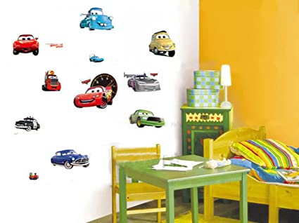 Amazon.com: Fangeplus TM DIY Removable Disney Pixar Cars 2 Lightning ...