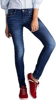 Calça Jeans Levis 711 Skinny Feminino Azul Médio
