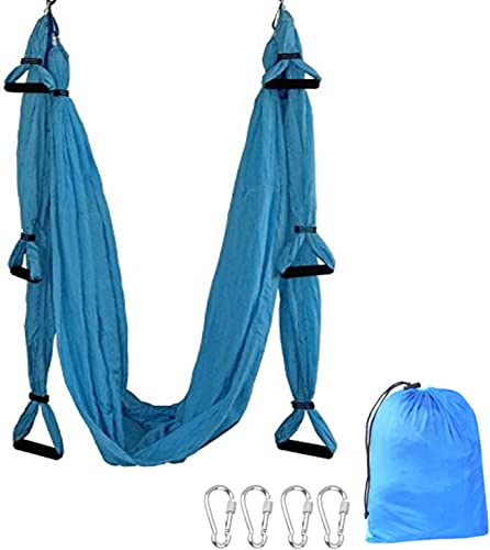 TDRTECH Aerial Yoga Swing, Hanging Yoga Trapeze Hammock Sling - Antigravity Inversion Swing for Beginners Kids