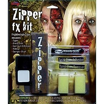 Fun World Zipper Fx Makeup Kit Accessory, Multi, Standard