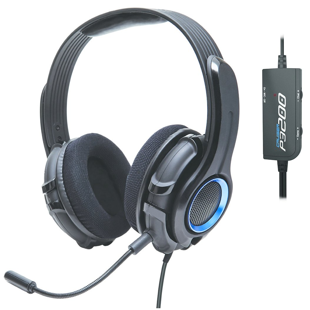 GamesterGear Cruiser P3200 Stereo Gaming Headset with Detachable Boom Microphone for PS3/PS4 Console and PC
