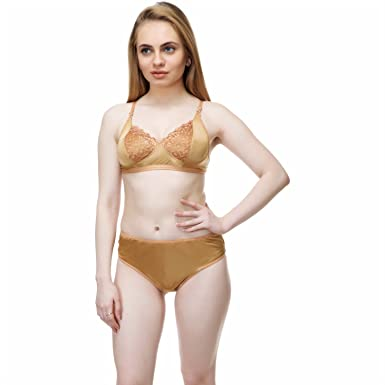 216454b98e Datsanks Premium Quality Bra and Panty Set (Size 34)  Amazon.in  Clothing    Accessories