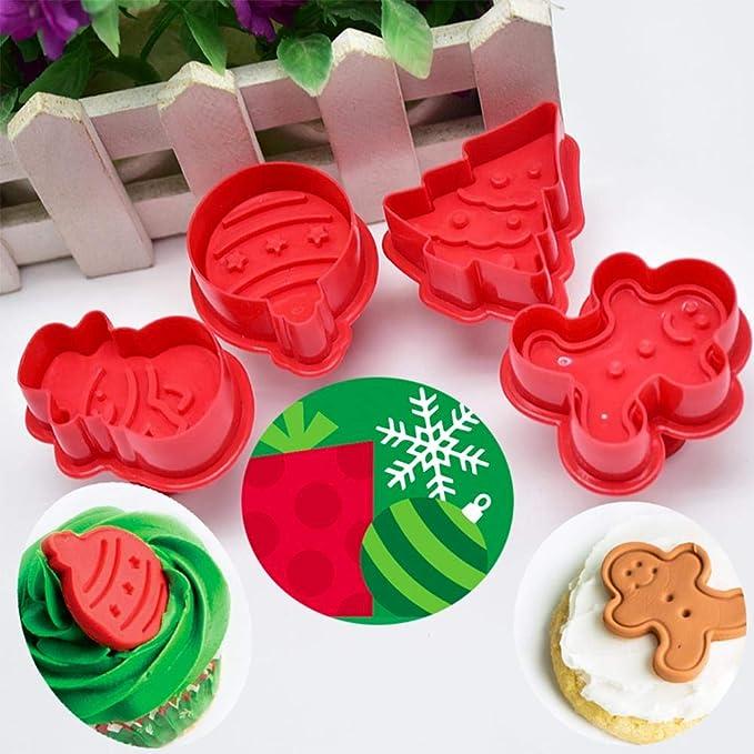 Backzubehör Schneemann Stern Herz Blume Keks tortendeko keksausstecher weihnachten Set fondant ausstechformen für Plätzchen 4-Teiliges Von 332PageAnn