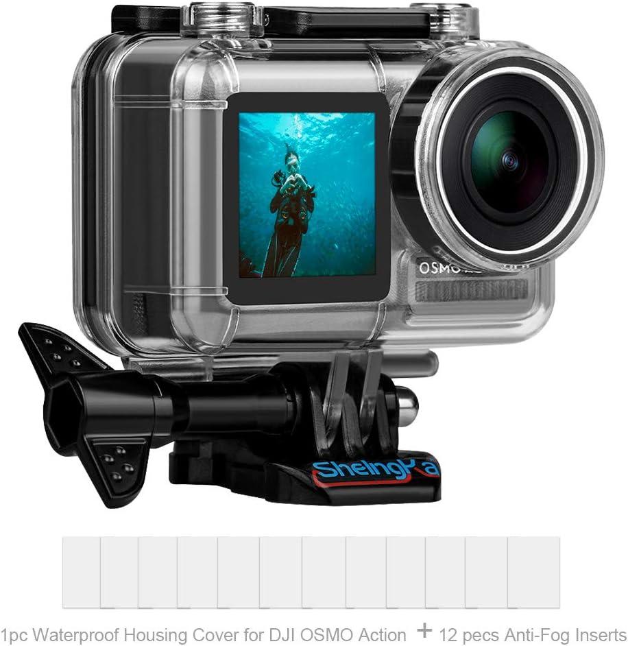 Funda de Buceo Impermeable para cámara de acción de DJ Osmo, Carcasa de Repuesto Impermeable para dji Osmo Action, 45 m, Kit de Accesorios para cámara: Amazon.es: Electrónica