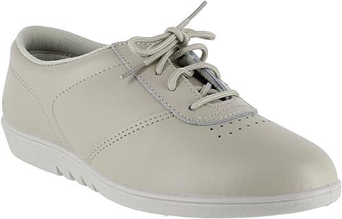 ladies women lace up fashion trainer leisure shoe hard wearing soles sizes 3-8